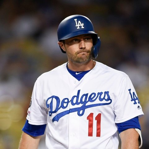 A.J. Pollock in left field Tuesday for Dodgers