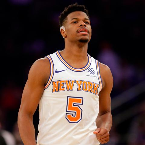 Dennis Smith Jr. (back) ruled out again for Knicks Sunday afternoon d92cac468