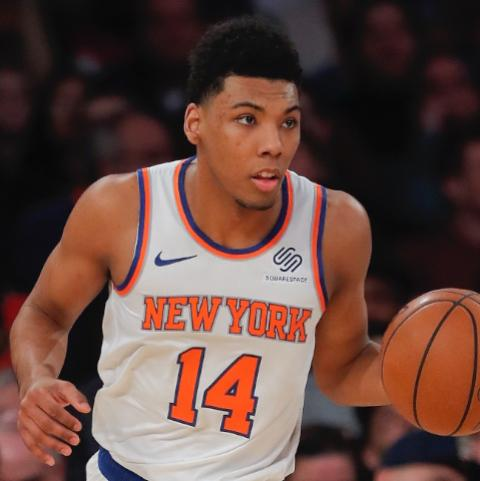 new product 87cbe a3549 Knicks' Allonzo Trier (calf) to miss more time