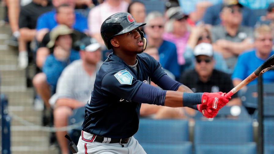 Ronald Acuña hits his first big league homer