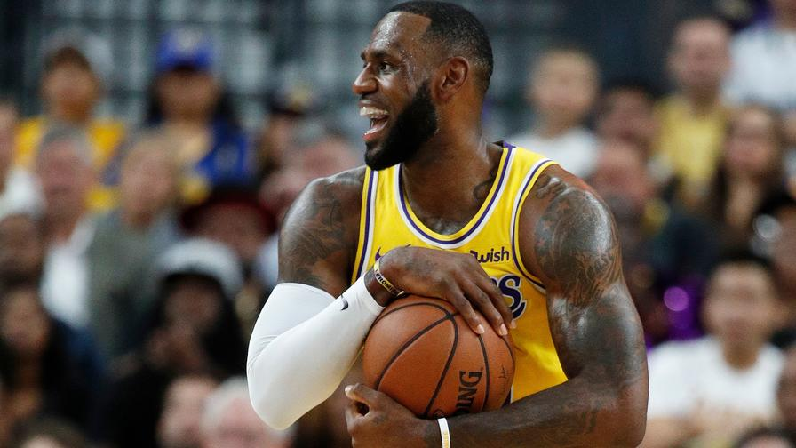 048477f9328 The most expensive player on the slate in his Lakers  debut